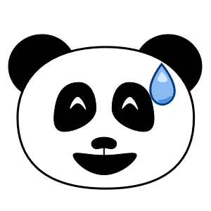 Apathetic Panda Stickers